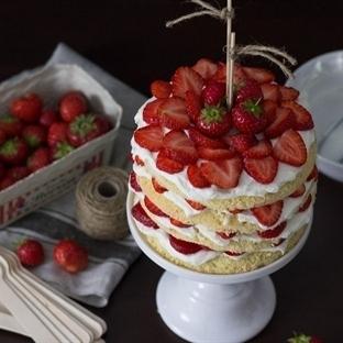 SOMMER ERDBEER-NAKED-CAKE