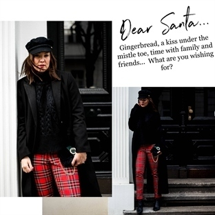 XMAS-LOOK MIT CHECKERED PANTS