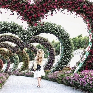 FLOWER OBSESSION AT MIRACLE GARDEN DUBAI.