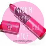 Favorim: Rimmel Kate Moss Ruj #107