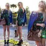2015 Mini Simli Elbise Modelleri