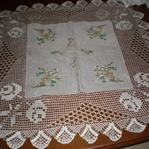 Dantel masa örtüsü örnekleri ve yapılışı
