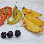 Fırında Elma Dilim Patatesler