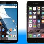 Nexus 6 - iPhone 6 Plus Karşılaştırması