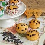 Damla Çikolatalı Sade Muffin Tarifi