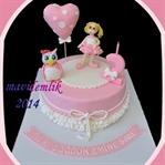 kalpli baykuşlu pasta