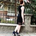 Dantelli Siyah Elbise / Lace Hem Little Black Dres