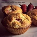 Çilekli yulaflı diyet muffin