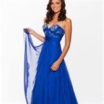 Mavi Yazlık Nişan Elbise Modelleri