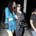Rihanna ve Adriana Lima Restorandan Çıkarken