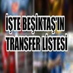 İşte Beşiktaş'ın Transfer Listesi