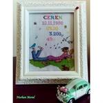 Kitap Okuyan Genç Kız Etamin Pano