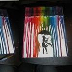 Mum Boya ile Dekoratif Tablo Yapımı