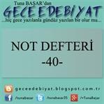 Not Defteri -40-