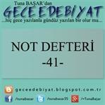Not Defteri -41-