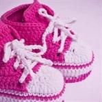 Tığ işi Converse Modeli Bebek Patiği Yapımı