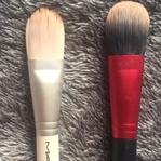 Kedi Dili Fondöten Fırçaları (MAC 190 ve Revlon Ka
