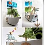 Okul Öncesi Çalışmaları - Kartondan Gemi Yapımı
