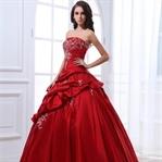 Kırmızı Abiye Elbise Modelleri 2015