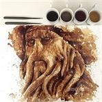 Sanatçı kahveyi sadece içmiyor, resim yapıyor