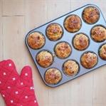 Chorizolu ve Rezeneli Muffinler
