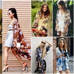 Mevsimin sokak modası: Kimono tarzı ceketler
