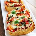 Peynirli Zeytinli Ekmek Pizzası Tarifi