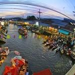 Bangkok Yüzen Marketler