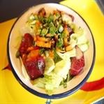Pancarlı göbek salata