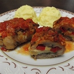 Hellimli Kaşarlı Tavuk Sarma (Patates püresi ile)