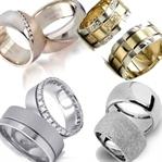 Parlak veya Gümüş Pırlanta Alyans Modelleri