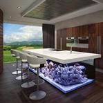 Akvaryum Temalı Mutfak Tezgahı