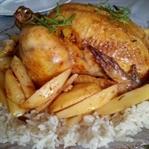 İç Pilavlı Tavuk Dolması ( Fırın Poşetinde)