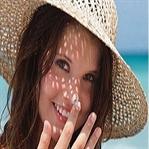 Cilt lekeleri ve güneş yanıkları için maske