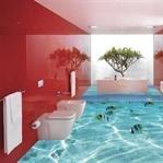 Deniz Temalı 3D Banyo Dekorasyonu