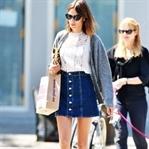 Moda: Önden Düğmeli Denim Etek