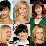 Geniş alınlı kadınlar için saç modelleri