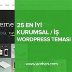 25 Adet En İyi İş / Kurumsal WordPress Teması