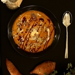 exotische Süßkartoffel-Möhren-Suppe