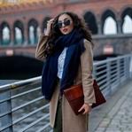 Khaki Pants and Camel Coat