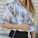 Outfit: Marmoroptik & Plissee