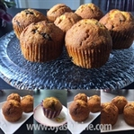 Bol Baharatlı ve Çikolatalı Balkabaklı Muffin