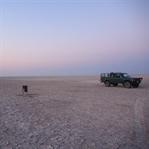 Der Himmel über der Salzwüste Ntwetwe Pan