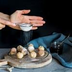 Mandel Vanille Bällchen und Food Fotografie