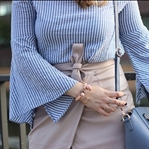 Statement sleeves and wrap skirt