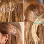 Tel Tokalar İle Yapılan Pratik Saç Modelleri