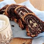 Zebra-Marmorkuchen mit Schoko-Kaffee-Swirl