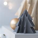 3-D Weihnachtsbaum aus Papier + Holz inkl. Vorlage