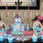 Disney Prensesleri Temalı Cupcake Süsleme