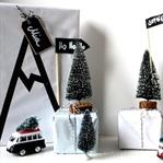 Geschenkverpackungs-Winterlandschaft